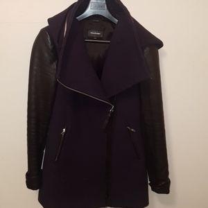 mackage wool jacket in navy blue